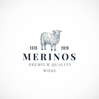 Segno astratto di lana merinos, simbolo o modello di logo.