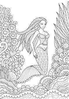 Mermaid background design