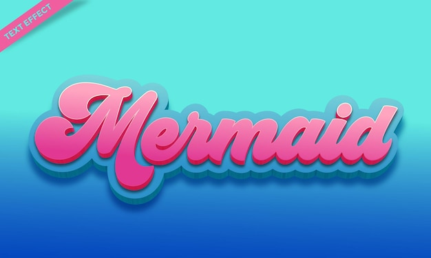 Mermaid color text effect  template