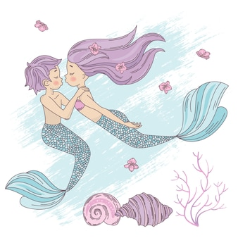 Mermaid couple