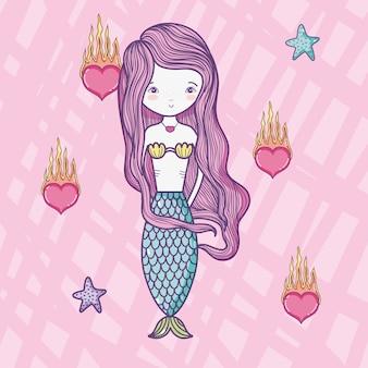 Mermaid cute drawing
