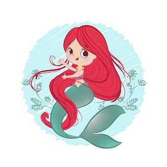 Mermaid cute illustration