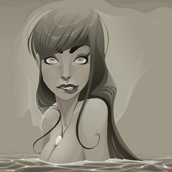 Mermaid, dark colors