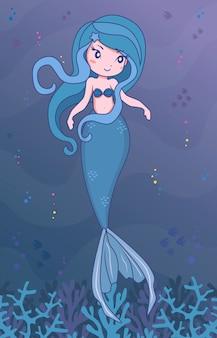 Mermaid indigo character