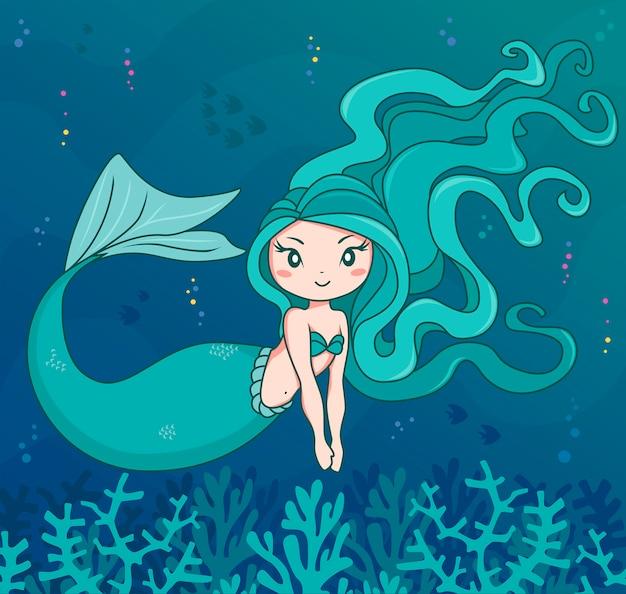 Mermaid marine character