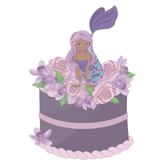 Mermaid party floral sweet princess