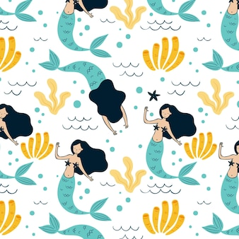 Mermaid pattern design
