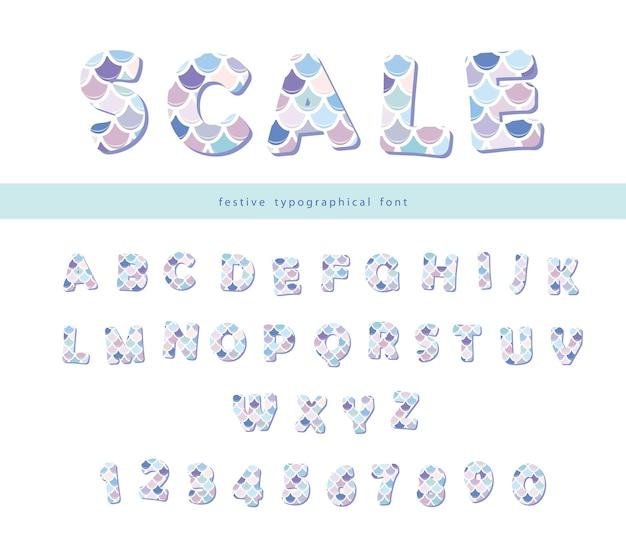 인어 규모 글꼴