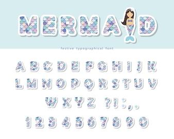 Mermaid scale font
