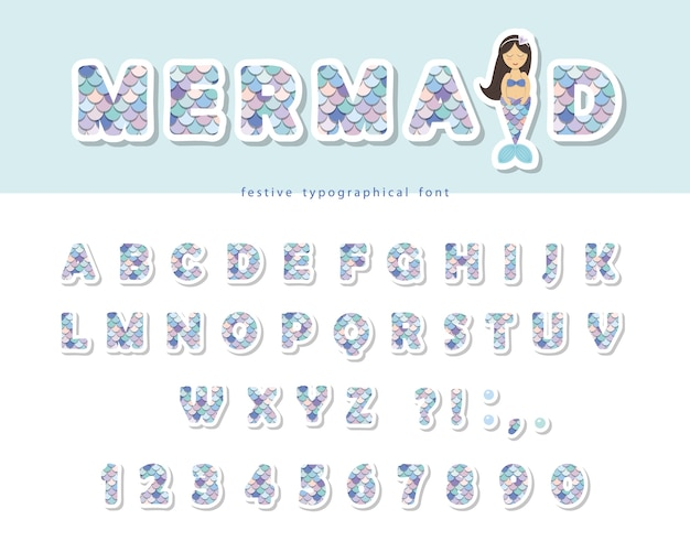 Mermaid scale font
