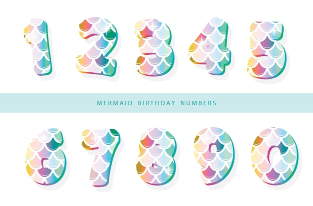 Mermaid scale numbers