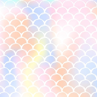 Mermaid scales background with holographic gradient. bright color transitions.