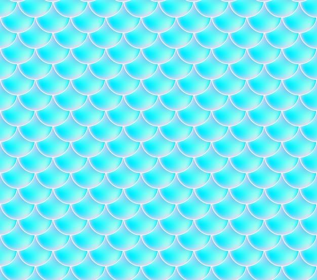 人魚の鱗。魚鱗。青のシームレスなパターン。水彩画の背景の色。スケール印刷。