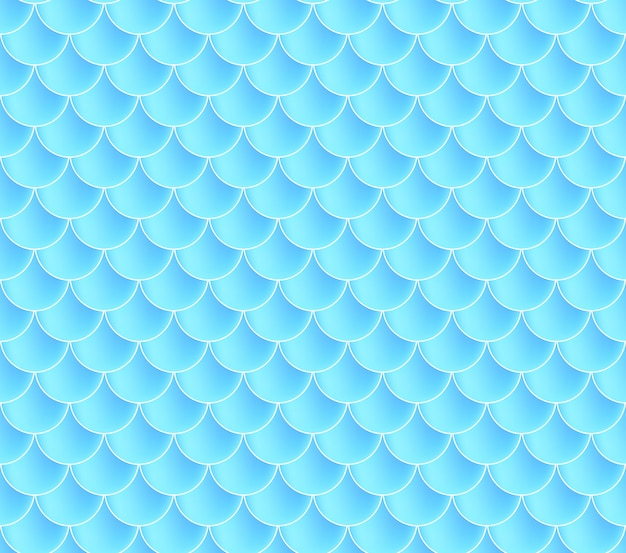 Mermaid scales. fish squama. blue seamless pattern