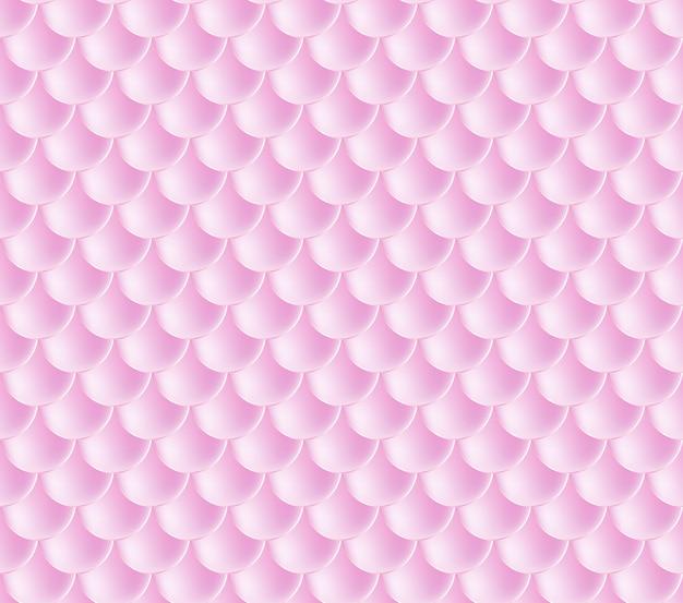人魚の鱗。魚鱗。ピンクのシームレスなパターン。水彩画の背景の色。スケール印刷。