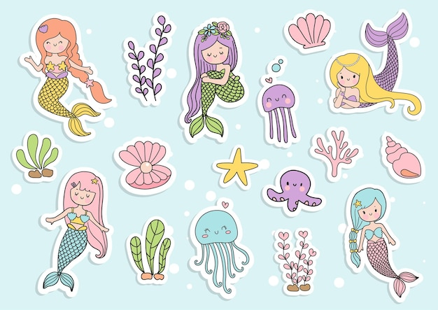 Mermaid sticker planner and scrapbook