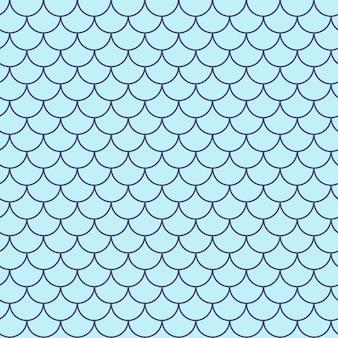 인어 꼬리 완벽 한 패턴입니다. 물고기 피부 질감. 소녀 직물, 섬유 디자인, 포장지, 수영복 또는 벽지를 위한 경작 가능한 배경. 수 중 물고기 규모와 보라색 인어 꼬리 배경입니다.