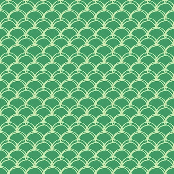 Mermaid tail seamless pattern. fish skin texture. tillable background for girl fabric, textile design, wrapping paper, swimwear or wallpaper. green mermaid tail background with fish scale underwater.