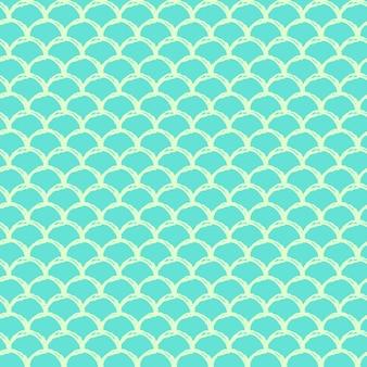 Бесшовный узор из хвоста русалки. текстура кожи рыбы. пахотный фон