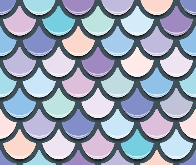 Mermaid tail seamless pattern.