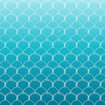 Mermaid tail on trendy gradient background. turquoise, blue colors.
