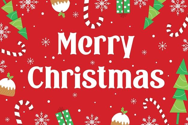 즐겁고 밝은 크리스마스 장식 포스터