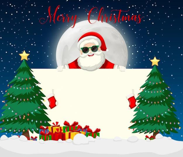 Merry chirstmas santa with sunglasses