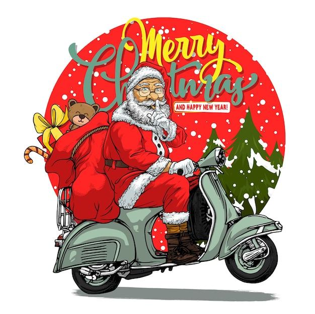 Merry chrismas with santaclaus