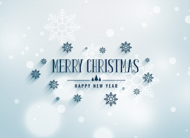 Merry chrismtas snowflakes decoration background