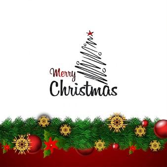 Merry christamas design with creative design vector