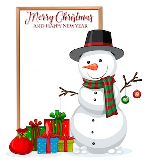 A merry christmad frame