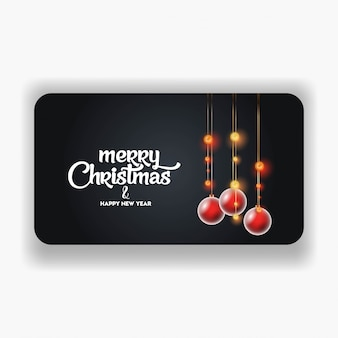 Merry christmas 2019 banner template