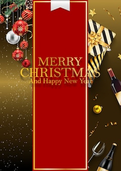 Merry christmas and 2019 happy new year background