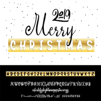 Merry christmas 2019. new year's slogan, or interior poster