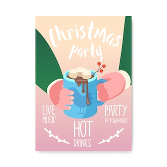 Merry christmas 2019 party poster, invitation