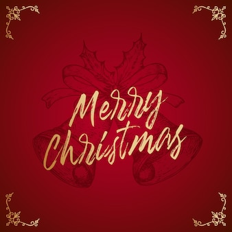 Merry christmas abstract card