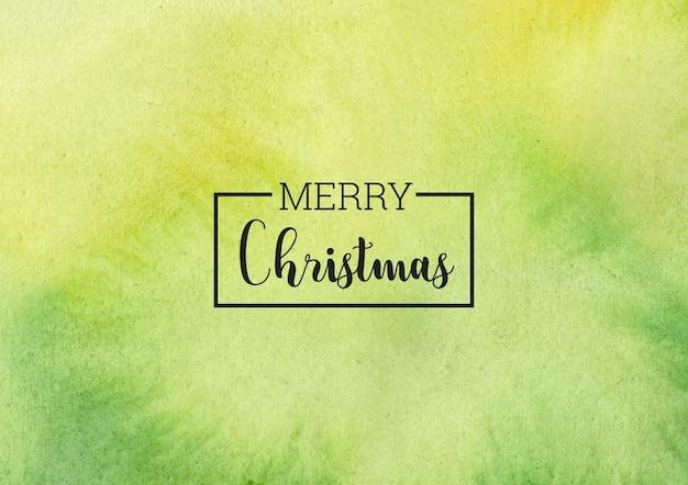 Счастливого рождества абстрактный зеленый акварель фон