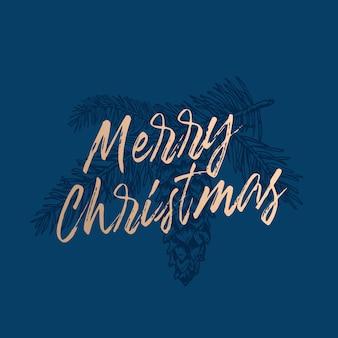 메리 크리스마스 추상 복고풍 레이블, 기호 또는 카드 템플릿.