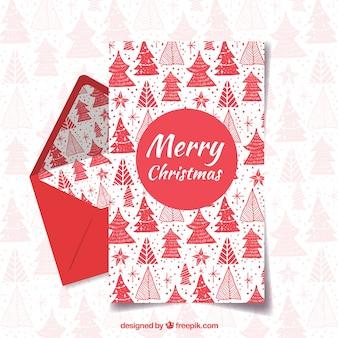 기쁜 성 탄과 행복 한 휴일 빨간 편지 서식 파일