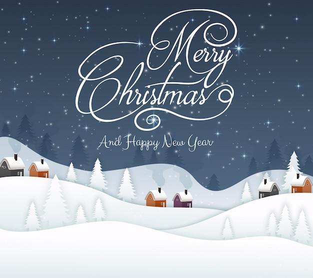 メリークリスマスと新年あけましておめでとうございます2019と青い海軍背景雪