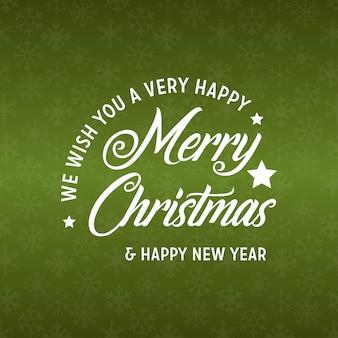 メリークリスマスと幸せな新年2019緑の背景