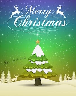 Счастливого рождества и нового года 2019 типография