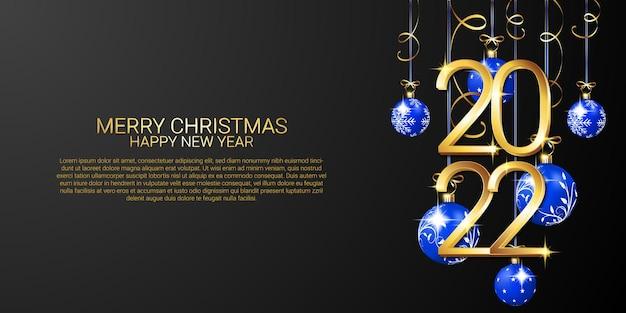 기쁜 성탄과 새해 복 많이 받으세요 2022 배너 템플릿