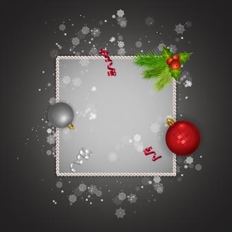 Поздравительная открытка с рождеством и новым 2022 годом