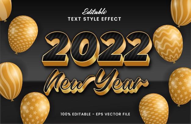 С рождеством и новым годом 2022 текстовый эффект редактируемый почерк premium векторы