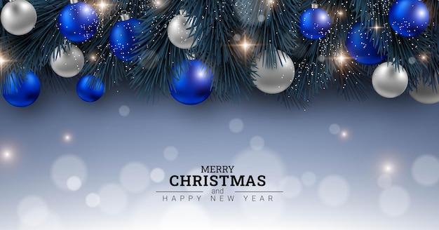 メリークリスマスと新年あけましておめでとうございます背景デザイン