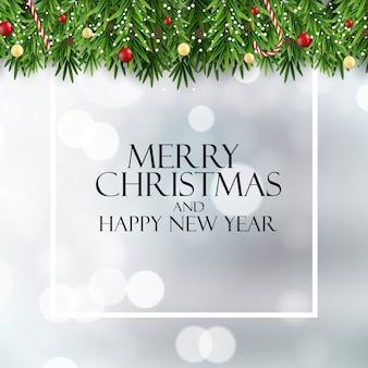 С рождеством и новым годом фон. иллюстрация