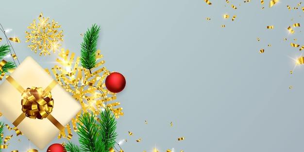 С рождеством и новым годом фон. Premium векторы