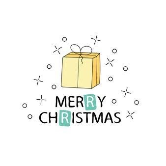 즐거운 성탄절 보내시고 새해 복 많이 받으세요. 서 예와 크리스마스 인사말 카드입니다. 필기 현대 글자입니다. 손으로 그린 디자인 요소