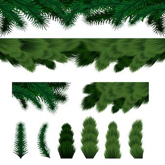 Веселого рождества и счастливого нового года, фон ветви елки